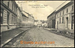 72867 - 1932 ČELECHOVICE n./H. - street; Us, bumped corners, light