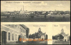 72869 - 1924 DOLOPLAZY - 3-views, general view, pub, castle; Us, lig