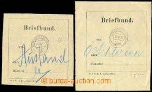 72872 - 1915-17 2ks poštovních formulářů - svazovka s raítky P