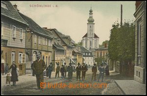 72880 - 1908 KRÁSNÁ LÍPA (Schönlinde) - street, people; Us, very