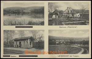 72886 - 1929 LITULTOVICE (Leitersdorf) - 4-view, railway-station, sa