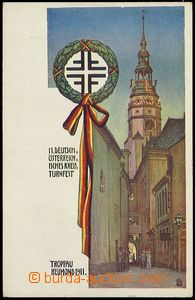 72889 - 1911 OPAVA (Troppau) - promotional Ppc, German sports games;