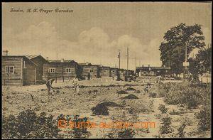72895 - 1925 ZNOJMO (Znaim) - wooden cabins, people; Us, good condit