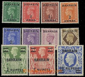 72944 - 1948 complete set stmp with overprint Mi.49-59 (SG.51-60a),