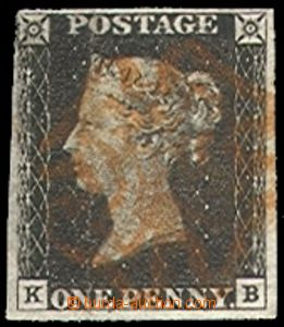 72961 - 1840 Mi.1,  letters K-B, L oblique margins, brick red postma