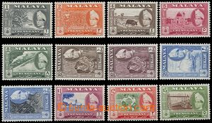 73005 - 1957 complete set 12 pcs of stamp. SG.89-99, very fine, cat.
