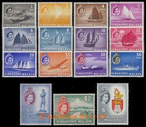 73019 - 1955 complete set 15 pcs of stamp. Mi.28-42 (SG.38-52), very
