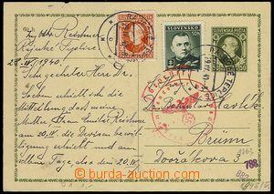 73035 - 1940 CDV2, Hlinka 50h, to BOHEMIA-MORAVIA, uprated with stam
