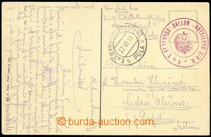 73038 - 1915 K.u.K. FESTUNGS-BALLON-ABTEILUNG 2/4 R.  červené kula
