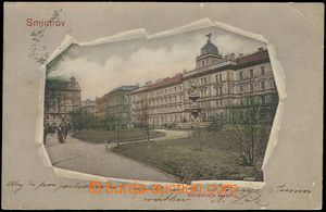 73048 - 1902 SMÍCHOV - color collage, long address, Us, view of Alb