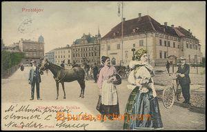 73053 - 1903 PROSTĚJOV - barevná koláž, Hanačky a Hanáci na n�