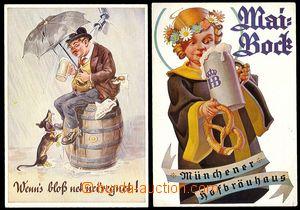 73099 - 1935? MÜNCHEN - sestava 2ks propagačních pohlednic, pivn�