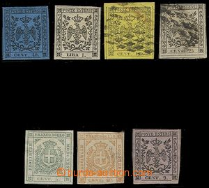 73106 - 1852-57 comp. of stamps Mi.5/I., 6/I., 3/II., 4/II., 7, 11,