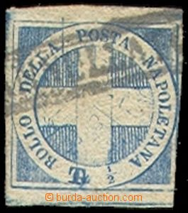 73116 - 1860 Mi.9, Savoy Cross, irregular margins, on reverse undete