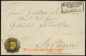 73136 - 1857 folded letter franked. stamp. Mi.4b, numeral CDS and ou
