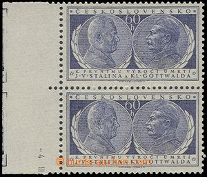 73137 - 1954 Pof.773, Anniv of Death, vertical double strip with L m
