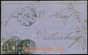 73140 - 1859 folded letter franked. stamp. Mi.7,12, four-circle pmk