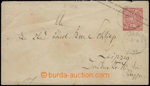 73141 - 1868 celinová obálka Mi.U1a, DR CASEBERG/ 3.8.68, skvrny,