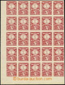 73169 - 1919 CZECHOSLOVAKIA 1918-39  PLATE PROOF revenue 1 Koruna, c