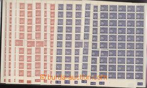 73170 - 1939 Pof.DL1-14, sestava neúplných archů s okraji a DČ, všec
