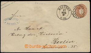 73177 - 1866 postal stationery cover Mi.U18A, numeral cancel and CDS