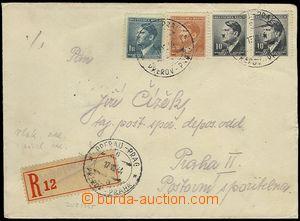 73179 - 1944 dopis vyfr. zn. Pof.78 2x, 87, 89, bianco R-nálepka, r