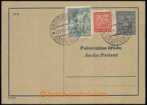 73182 - 1938 CAZ1B, Czech - German text, uprated with stamp Pof.250,