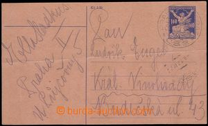 73187 - 1920 CPO1, Liberated Republic 140h, really sent by pneumatic
