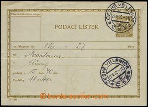 73189 - 1930 CPL3, tiráž A1930, DR ČESKÉ VELENICE/ 27.5.32, zlom
