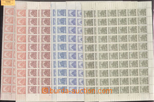 73193 - 1941 Pof.57-61, 2x, Landscape, 2x selection of complete shee