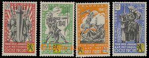 73205 - 1941 BELGIE / FLÄMISCHE LEGION  Mi.I-IV, 1x dvl, kat. 70€