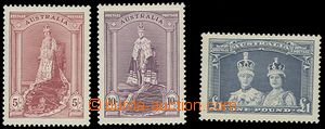 73207 - 1937 Mi.150-152 Dy, highest value, superb, c.v.. 164€