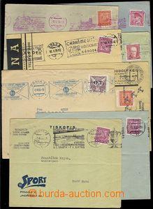 73211 - 1935-36 sestava 8ks dopisů s různými příležitostnými