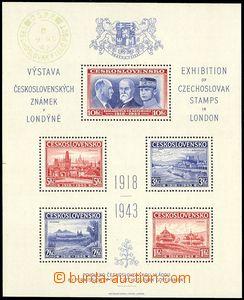 73214 - 1943 Exile AS1, London MS, cancel. from favor Czechoslovak F