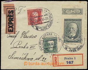 73234 - 1930 JUDAIKA / ČSR I.   R+Ex dopis v místě vyfr. zn. Pof.