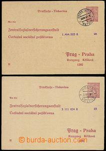 73259 - 1940 CUP1, part II, 2 pcs of, CDS VOLYNĚ and ŘETOVÁ, 1940