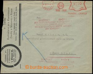 73262 - 1941 letter with print pay machine Riunione Adriatica 3.7.41