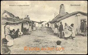 73300 - 1915 KECSKEMÉT - cikáni, ulice; prošlá, odřené růžky