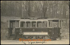 73301 - 1911 PRAGUE  tram, driver and průvodčí, nice view, Us, bu