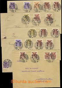73305 - 1921 comp. 5 pcs of letters franked. stamp. Pigeon-issue 192