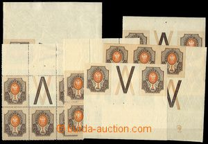 73330 - 1910 Mi.77, comp. 6 pcs of imperforated and perforated block