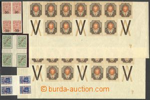 73331 - 1900-23 Mi.77-78, selection of bands with margin, 3 pcs of b
