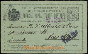 73372 - 1901 PC Mi.P13aA (response část?), CDS CETINJE 14.7.1901, to