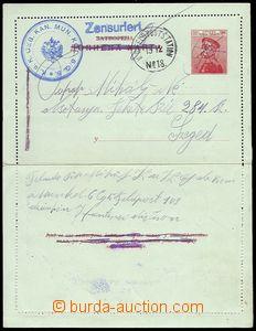73373 - 1915 Serbian p.stat letter-card Mi.K17 sent by member of Aus