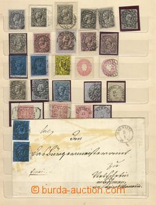 73374 - 1864-70 comp. of stamps mainly Mi.8-16, letter to Bohemia wi