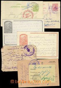 73383 - 1914-1918 sestava 6 ks lístků FP, zajímavé použití - 1