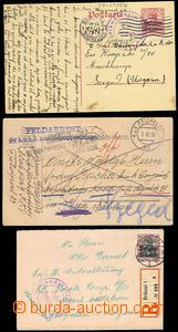 73431 - 1914-1916 BELGIEN  sestava 2ks celistvostí, 1x celina, 1x R