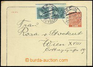 73448 - 1931 CZL2C, incl. margins, uprated stamp. Pof.280 2x,  CDS D