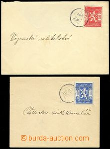 73453 - 1918 comp. 2 pcs of envelopes with mounted stamp. Pof.SK1 an
