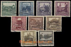 73468 - 1923 Mi.433-441, Provincial Capitals, c.v.. 80€